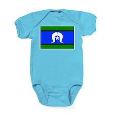 Torres Strait Islander Flag Baby Bodysuit