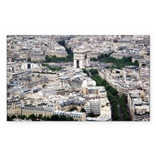 Arc de Triomphe with Cityscape Decal