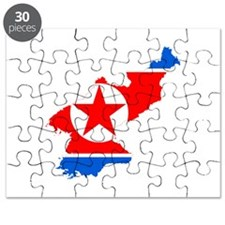 Flag map of North Korea Puzzle
