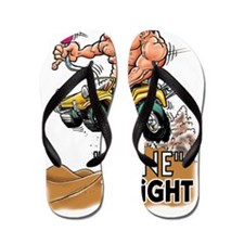 """Dune It Right"" Dune Buggy Cartoon Flip Flops"