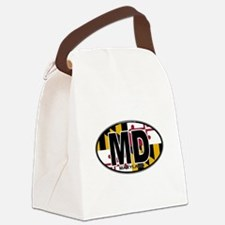 maryland-oval-md-flag.png Canvas Lunch Bag