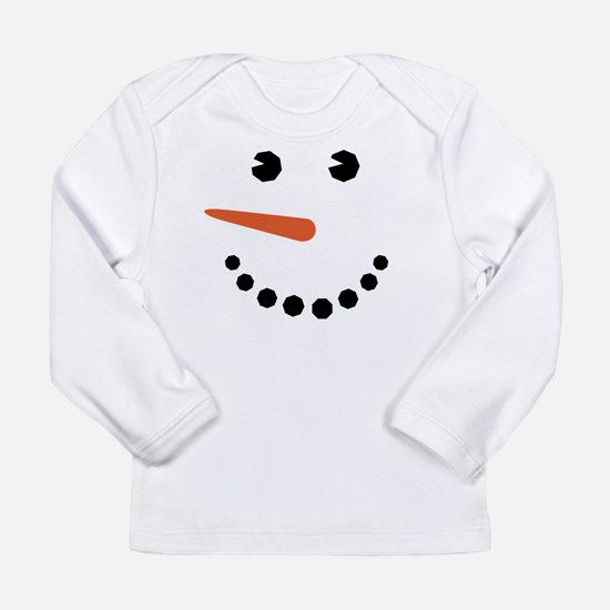 Snowman Face Funny Long Sleeve T-Shirt