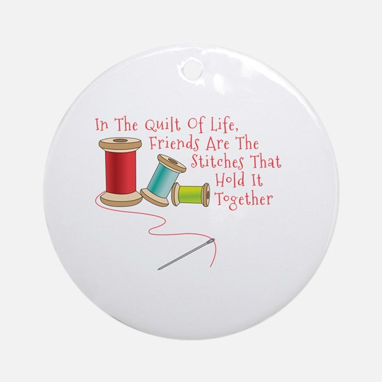 Quilt of Life Ornament (Round)