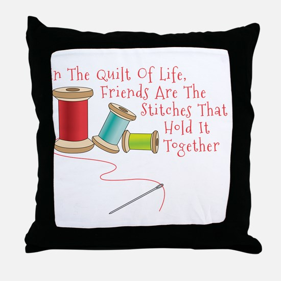 Quilt of Life Throw Pillow