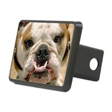 Portrait of a Bull Dog wit Hitch Cover