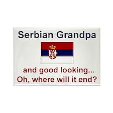 Serbian Grandpa-Good Lkg Rectangle Magnet