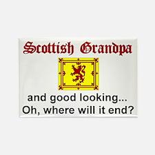 Gd Lkg Scottish Grandpa Rectangle Magnet
