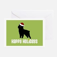 "Griffon ""Santa Hat"" Greeting Cards (Pk of 10)"