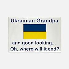 Good Lkg Ukrainian Grandpa Rectangle Magnet