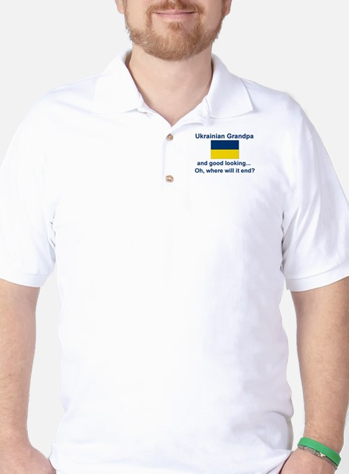 Good Lkg Ukrainian Grandpa Golf Shirt