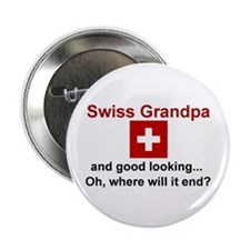 "Good Lkg Swiss Grandpa 2.25"" Button"