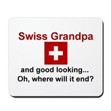Good Lkg Swiss Grandpa Mousepad