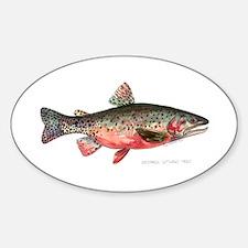 Greenback Cutthroat Trout Sticker (Oval)