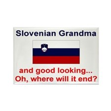 Slovenian Grandma-Good Lkg Rectangle Magnet