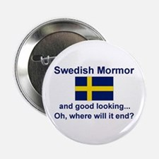 "Good Lkg Swedish Mormor 2.25"" Button"