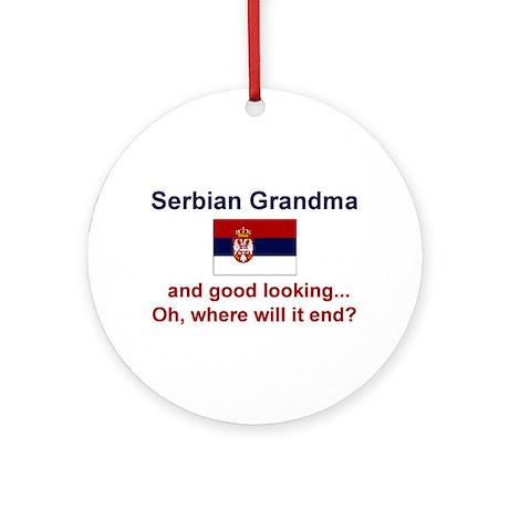 Good Looking Serbian Grandma Ornament (Round)