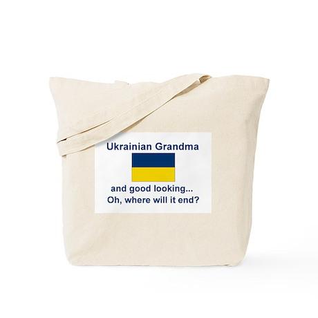 Good Lkg Ukrainian Grandma Tote Bag