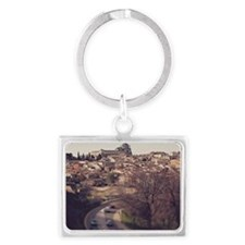 Houses and monastery Landscape Keychain