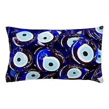 Blue Turkish Evil eyes ceramic beads Pillow Case