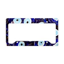 Blue Turkish Evil eyes cerami License Plate Holder