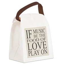 Sign with Shakespeare quote Canvas Lunch Bag