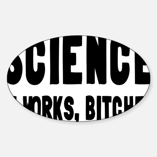 sciencerectangle Sticker (Oval)