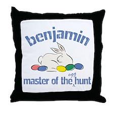 Easter Egg Hunt - Benjamin Throw Pillow