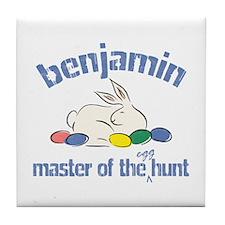 Easter Egg Hunt - Benjamin Tile Coaster