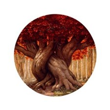 """Enchanted Tree 3.5"""" Button"""