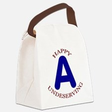 Happy, Undeserving A Canvas Lunch Bag