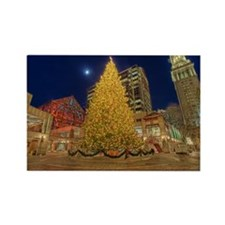 Faneuil Hall Christmas Tree Rectangle Magnet