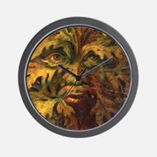 October Green Man Wall Clock