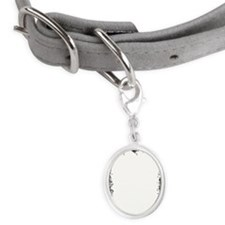 LiquidLibrary Small Oval Pet Tag