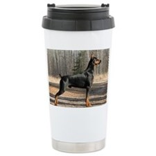 September Doberman imag Travel Mug