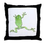 Tree Frog Photo Throw Pillow