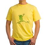 Tree Frog Photo Yellow T-Shirt