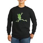Tree Frog Photo Long Sleeve Dark T-Shirt