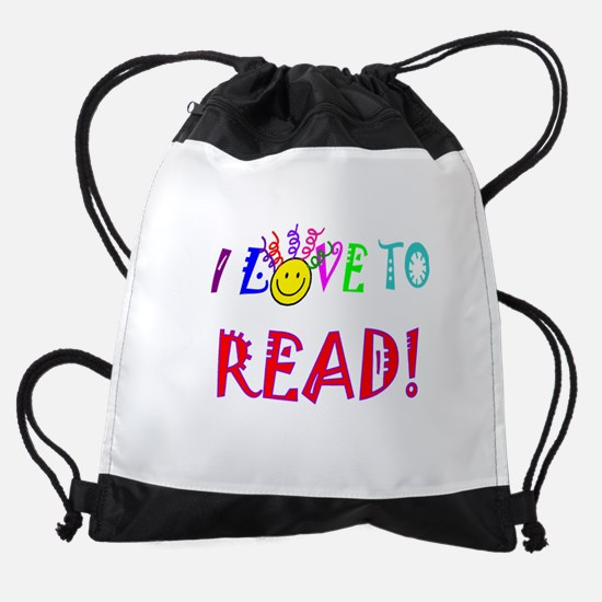 Love to Read Drawstring Bag