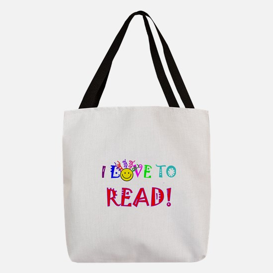 Love to Read Polyester Tote Bag