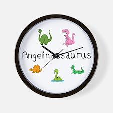 Angelinaosaurus Wall Clock