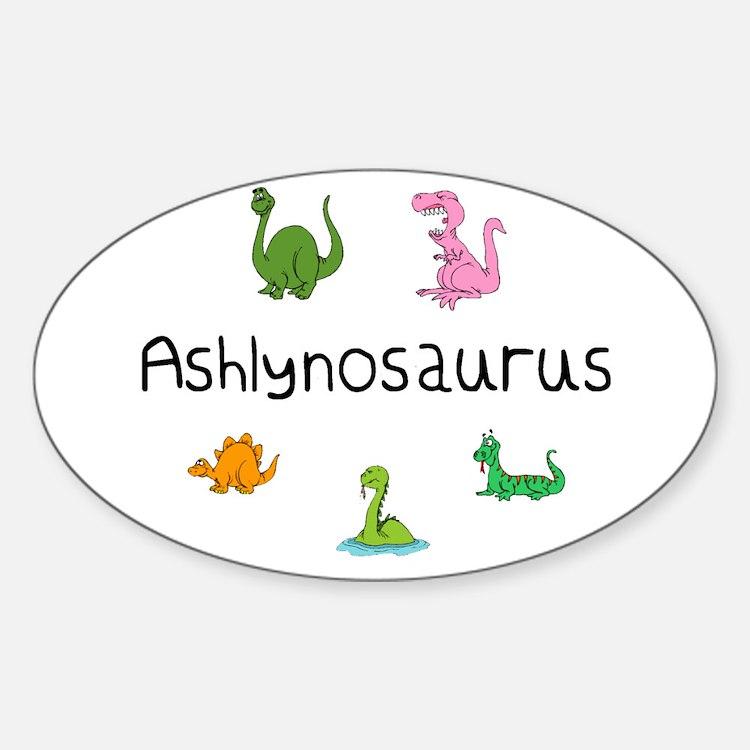 Ashlynosaurus Oval Decal