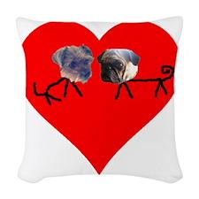 doggies Woven Throw Pillow
