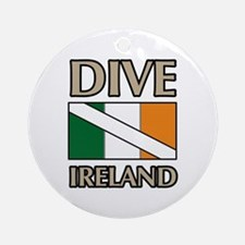 Dive Ireland Flag Ornament (Round)