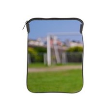 Ball on soccer field iPad Sleeve