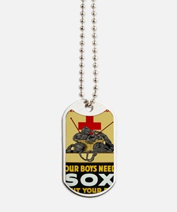 Our Boys Need Sox vintage WWI poster Dog Tags