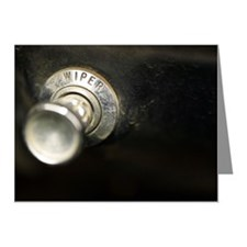Old-fashioned wiper knob on  Note Cards (Pk of 20)