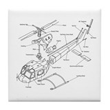Helicopter Tile Coasters