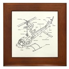 Helicopter Schematic Framed Tile