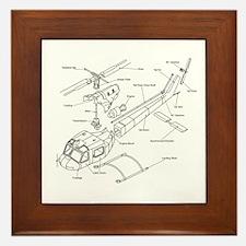 Helicopter Schematic Framed Tile