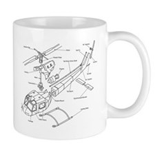 Helicopter Schematic Coffee Mug